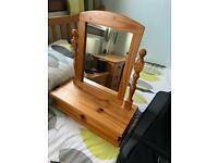 Pine mirror unit