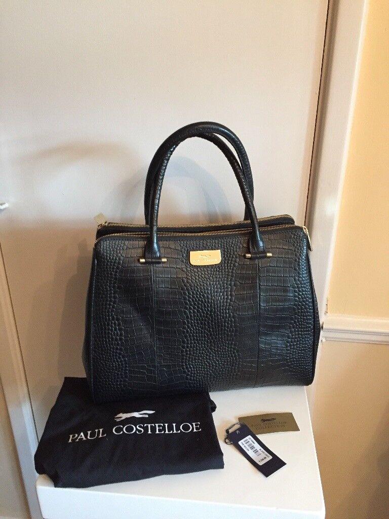 Paul Costelloe Leather Bag brand new