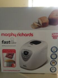 Morphy Richards 'Fast Bake' Bread Maker. Brand new - super easy to use. Unwanted gift