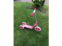 Girls 3 wheeled Disney scooter