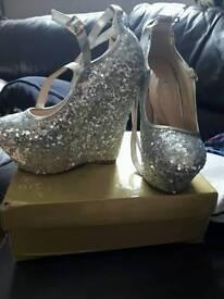 Sequin heels size 7