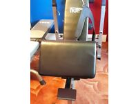 Weight bench and vinyl weights