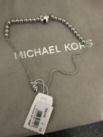 Brand new michael kors silver bracelet with tag