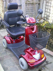 Mobility Scooter TGA Sonet , road legal 6mp, with basket, rain canopy and lockable box. Inc manual