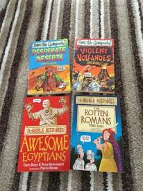 4 x Horrible Histories/Geographies