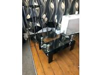 Glass coffee table and stands