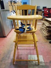 Wooden 2 part high chair