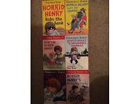 Books. Horrid Henry. 6-off paperback.