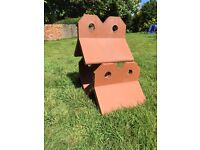 Two Hole Crested Ridge Tile - Clay