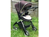 Silver Cross Wayfarer travel system with carrycot, pushchair and car seat excellent condition