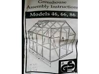Brand new glass greenhouse