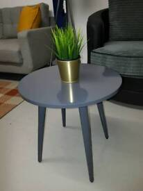 Grey gloss side table new