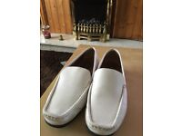 Ladies leather clarks white mosican shoe