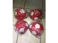 Coca Cola leather footballs