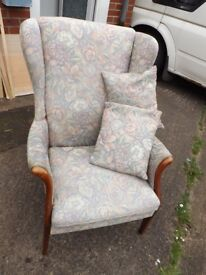 Parker knoll Wing Back chair & cushions
