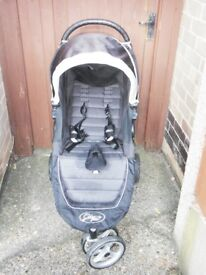City Mini Single by Baby Jogger, in Black/Silver. With Box and Instructions