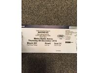 1 X MADNESS @ NEWCASTLE ARENA SEATED TICKET BLOCK 201