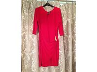 Lovely red new dress size 14 Wallis.