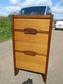 Lovely Retro Teak Chest of Drawers Danish / G-Plan Style Delivery Can Be Arranged.