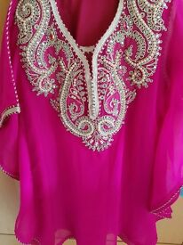 Moroccan dress with babouche