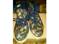 Cath Kidston owl brand new ladies size 8 canvas ankle high shoes/boots