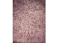 Mauve shaggy rug