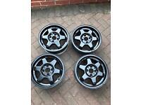 """14"""" 4x100 alloy wheels/rims rota style Lupo/Arosa"""