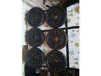 Weights plates 12 x 2.5 kg