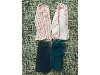 Girls tops & trousers age 8-9 Mini Boden & M&S