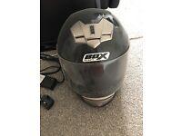 Large motorcycle helmet !