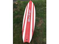 Red stripe surfboard 7 ft
