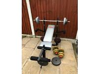 Multifunction Bench With 50kg+ Weights Set. •Can Deliver•