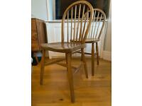 4x wooden dining chairs