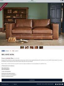 Indigo Furniture Matlock The Big One Sofa Settee Leather Tan Brown