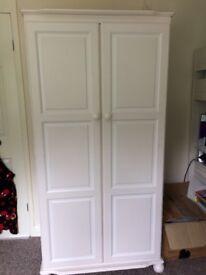 Pine wardrobe, chest drawer, bedside cabinet