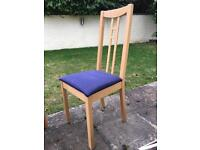 Ikea upholstered chairs (navy) x6