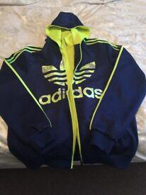 Adidas Sport Classic Mens Tracksuit Top Double Zipper Blue/Green 4xl