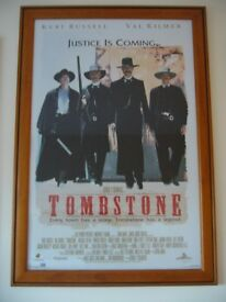 Large Poster in Frame - TOMBSTONE Justice Is Coming