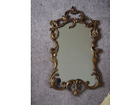 Beautiful Vintage Ornate Rococo Style Feature Wall Mirror Lovely Shape