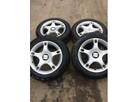 Genuine Seat Leon Set of Alloy wheels with good tyres