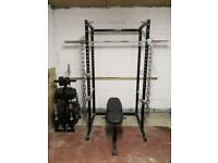 Power Rack and Olympic weights,bars.