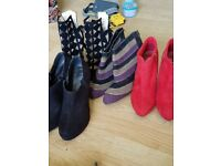 4 pairs of heeled size 6-7 shoes