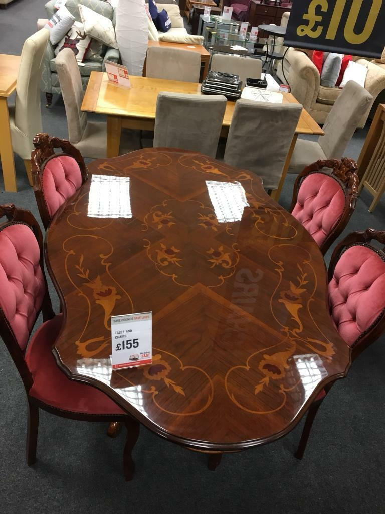 Wondrous Bhf Dark Wood Dining Table And 4 Upholstered Chairs In Derby Derbyshire Gumtree Interior Design Ideas Philsoteloinfo