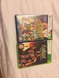 Fallout new Vegas and Kinect adventures for Xbox 360 for sale