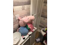 Toy kitchen with accessories peppa pig and gorge soft toys marvel super hero station