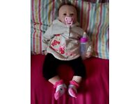 Reborn doll with accessories