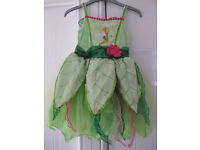 DISNEY TINKERBELL DRESS & WINGS - IMMACULATE CONDITION - Age 5-6 REDUCED