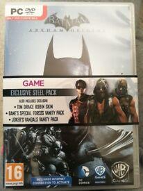 Batman arkham origins steel pack PC