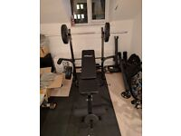 £35 - Physionics Weight Bench / Fitness Bench with Leg Unit and Fly Attachment Exercise Workout