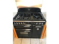 Rangemaster Classic 90 Range Dual Fuel Cooker - Black and Chrome